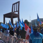 BM Önünde Uygurlar ve Tibetliler Çin'i Protesto Etti