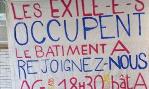 Fransa'da Üniversiteyi İşgal Eden Sığınmacılar