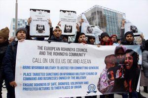 Arakan'daki Soykırım Hollanda'da Protesto Edildi