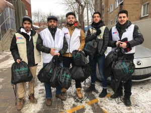 Hasene'den Kanada'da Fakirlere Kışlık Yardım
