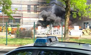 Essen'deki Cami İnşaatında Yangın Paniği