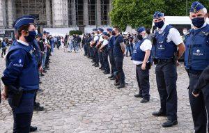 """BelçikaPolisinden """"Irkçılık"""" Suçlamalarına Karşı Protesto"""