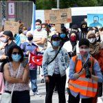 """Başkent Brüksel'de """"Uygurlara Özgürlük"""" Protestosu"""