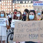 Moria Kampındaki Sığınmacıların Ülkeye Kabulü İçin Danimarka'da Protesto