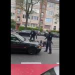 Frankfurt'ta Psikolojik Sorunları Olan Adama Polis Şiddeti Kamerada