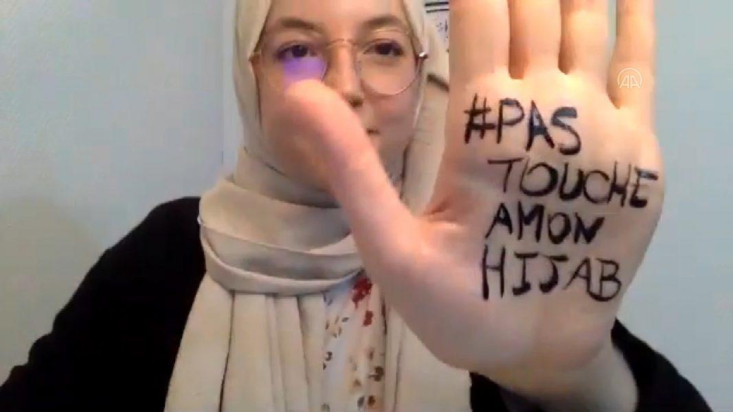 """Fransa'da Müslüman Kadınlardan """"Başörtüme Dokunma"""" Eylemi"""