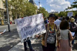 Fransa'da Afganistan Halkına Destek Gösterisi