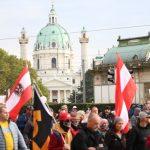 Avusturya'da Kovid-19 Önlemlerine Karşı Gösteri